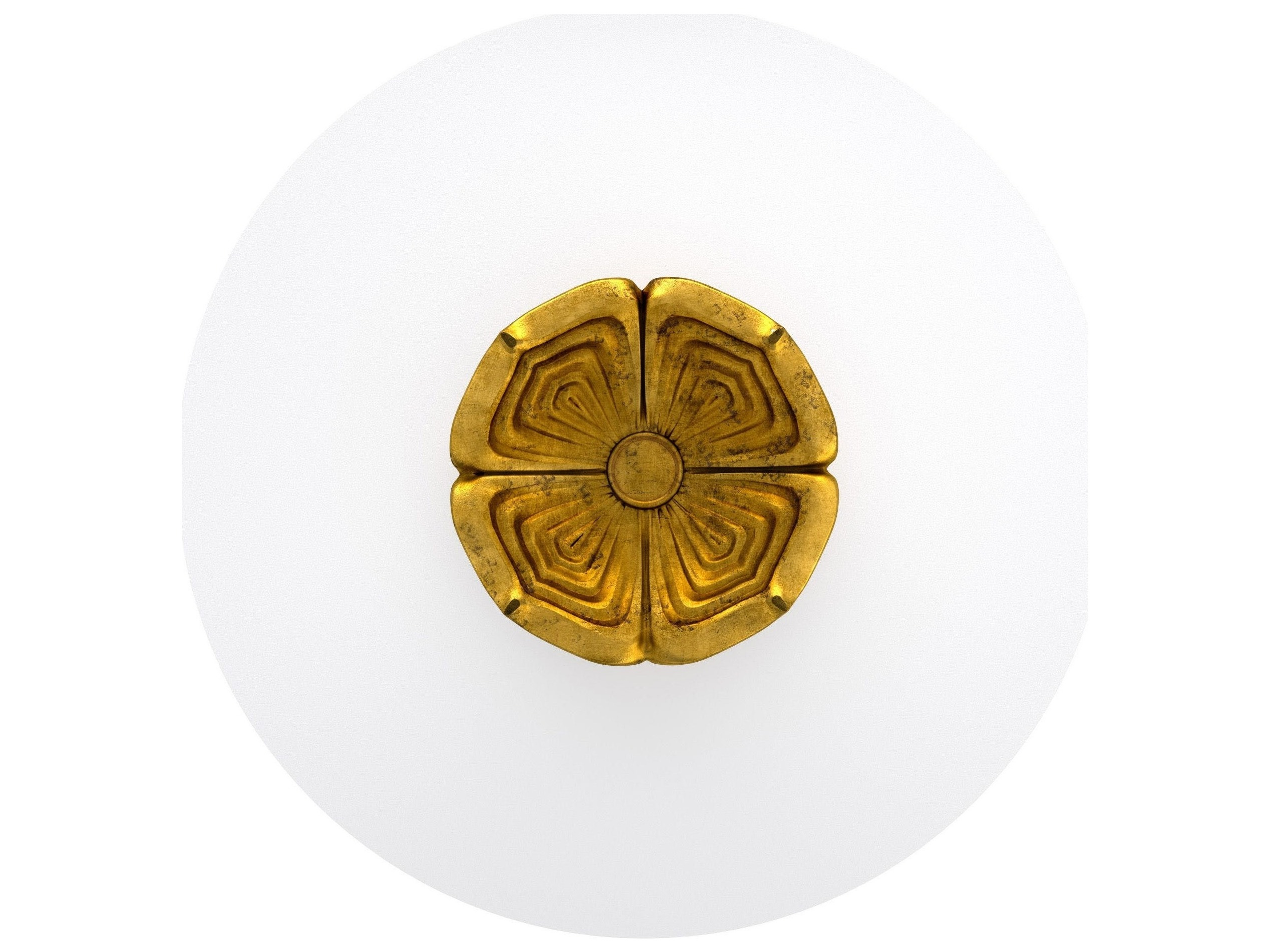 Hooker Furniture Cynthia Rowley Gold 54 Wide Round