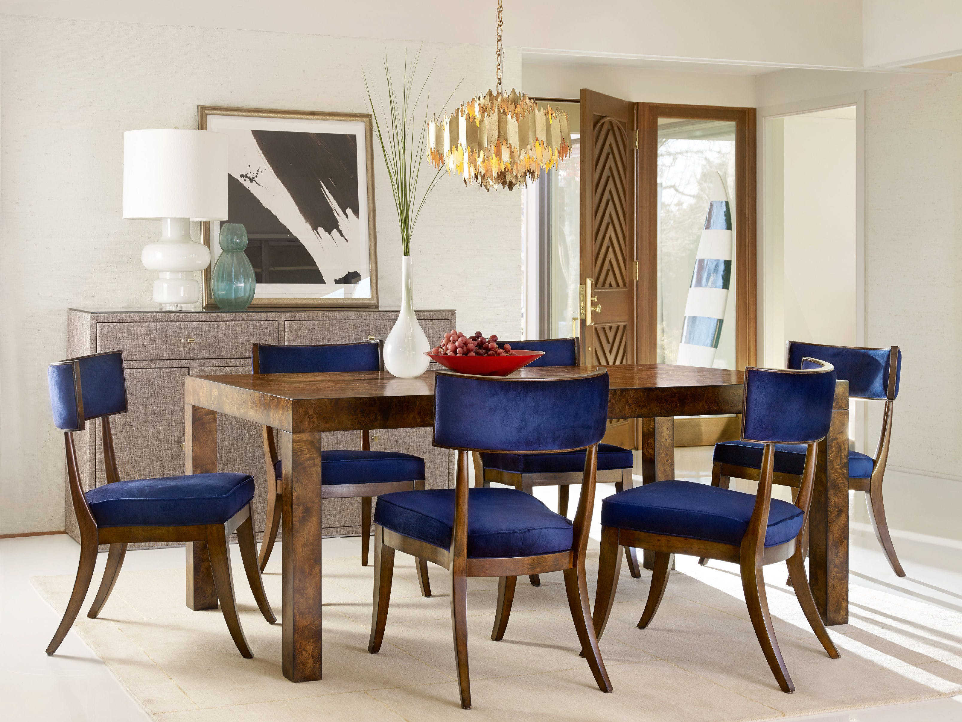 Superbe ... Hooker Furniture Cynthia Rowley Indigo With Mozambique Klismos Dining  Side Chair (Sold In 2)
