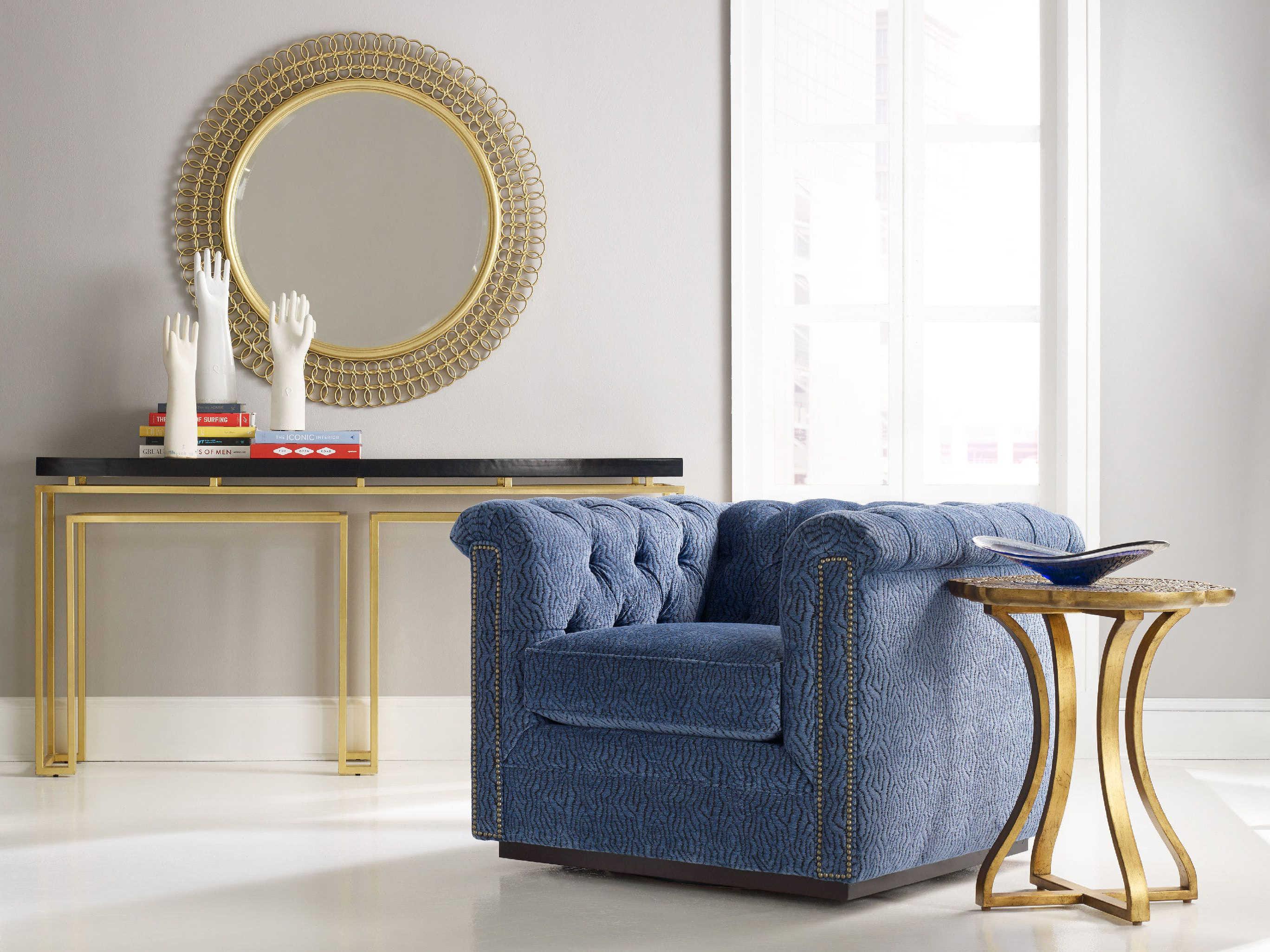 Hooker Furniture Cynthia Rowley Black with Gold Leaf 70\'\'L x 14\'\'W ...