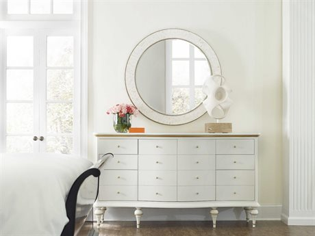 Hooker Furniture Cynthia Rowley Triple Dresser with Wall Mirror Set
