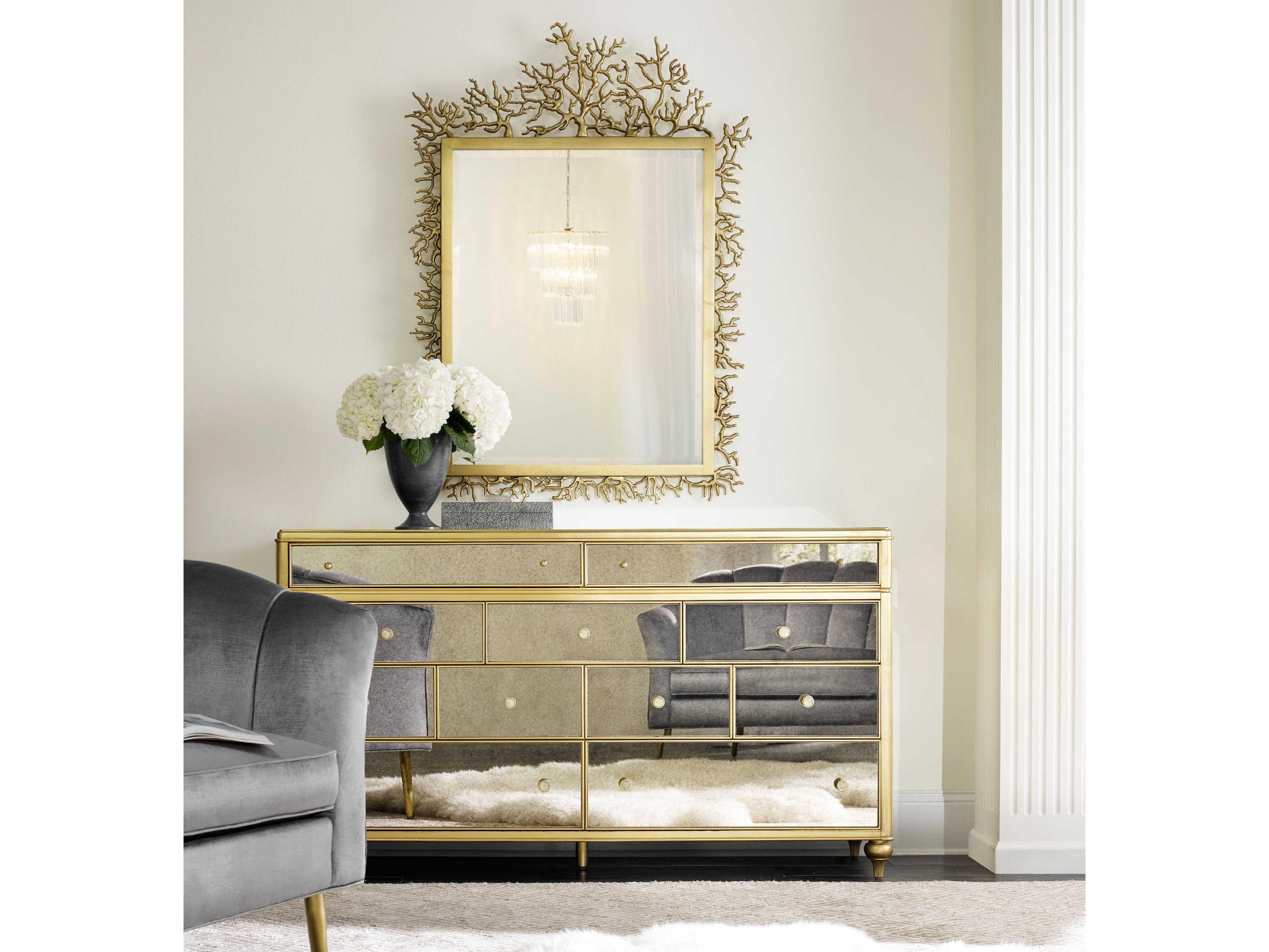 Hooker Furniture Cynthia Rowley Gold 39 W X 53 H