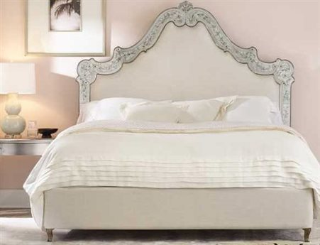 Hooker Furniture Cynthia Rowley Mirror Swirl Queen Venetian Upholstered Platform Bed