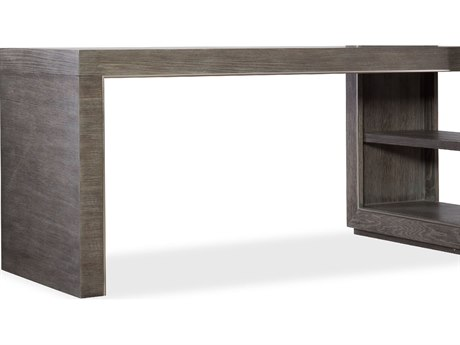 Hooker Furniture House Blend Gray 60''L x 25''W Rectangular Peninsula Computer Desk