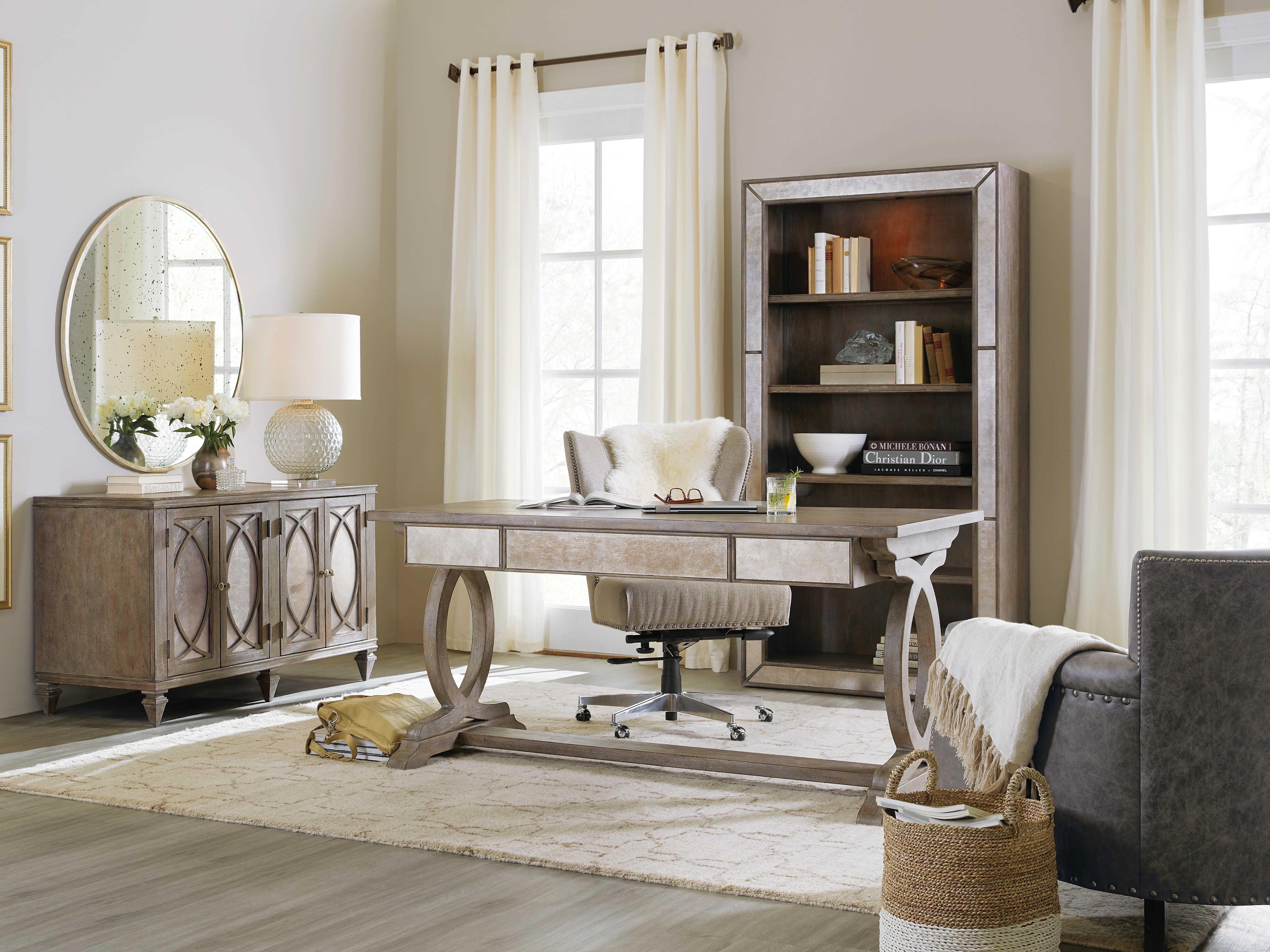Hooker Furniture Rustic Glam Light Wood 64 L X 30 W