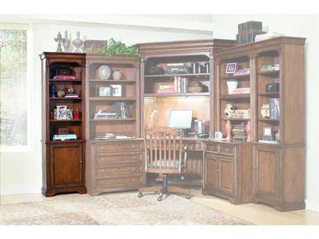 Hooker Furniture Brookhaven Distressed Medium Cherry Left Bookcase