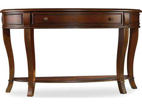 Hooker Furniture Brookhaven Distressed Cherry 52''L x 18''W Demilune Console Table