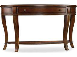 Brookhaven Distressed Cherry 52''L x 18''W Demilune Console Table