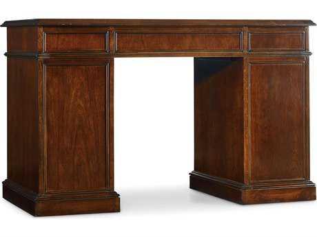 Hooker Furniture Medium Wood 48''L x 26''W Rectangular Cherry Knee-Hole Writing Desk