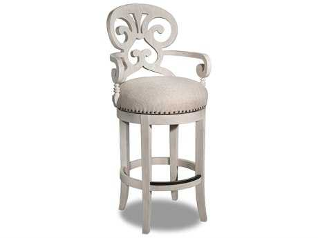 Hooker Furniture Mimosa Sunset Point Hatteras White Bar Stool