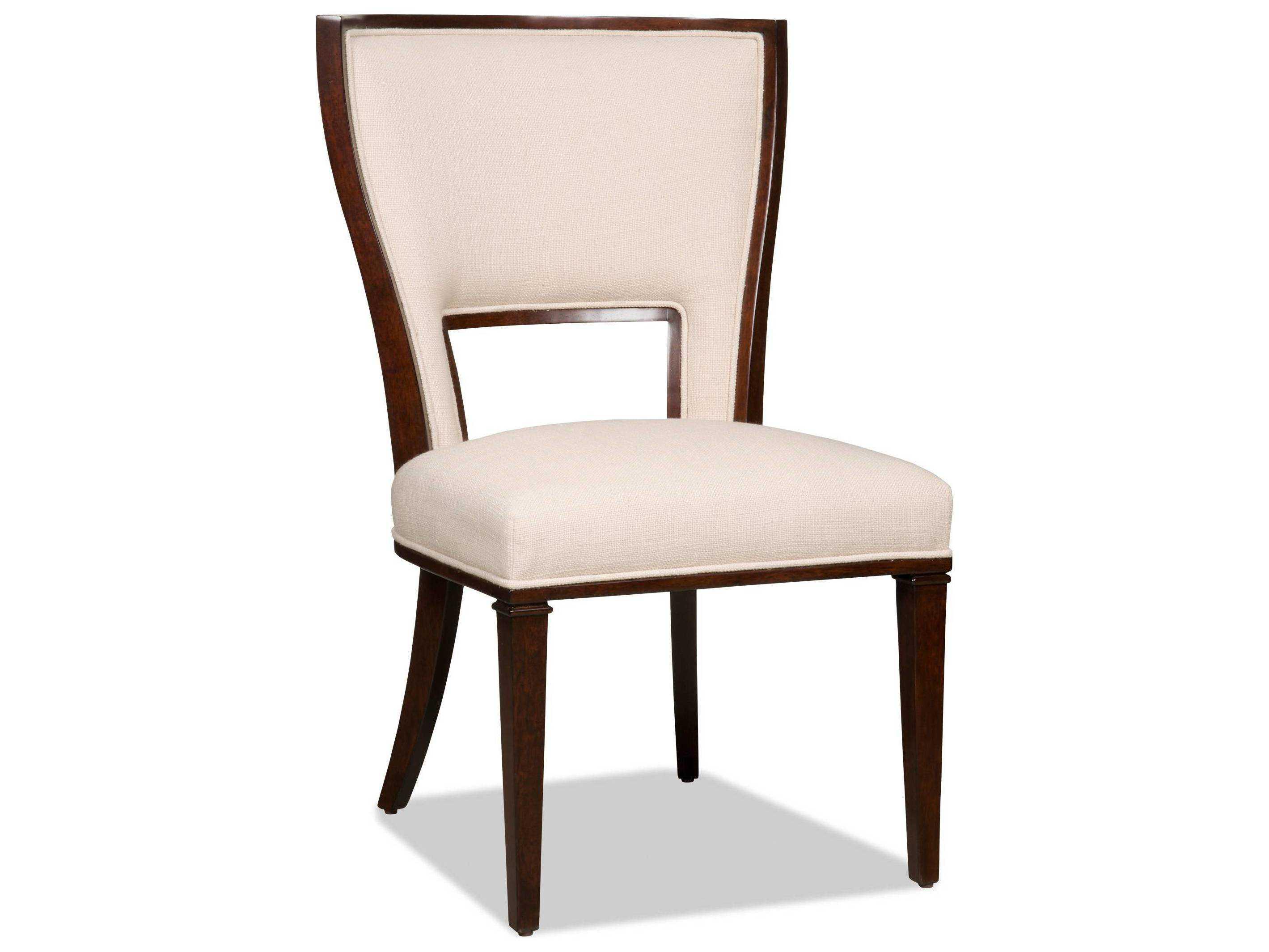 Hooker furniture lindy natural dark wood dining side chair - Natural wood dining chairs ...