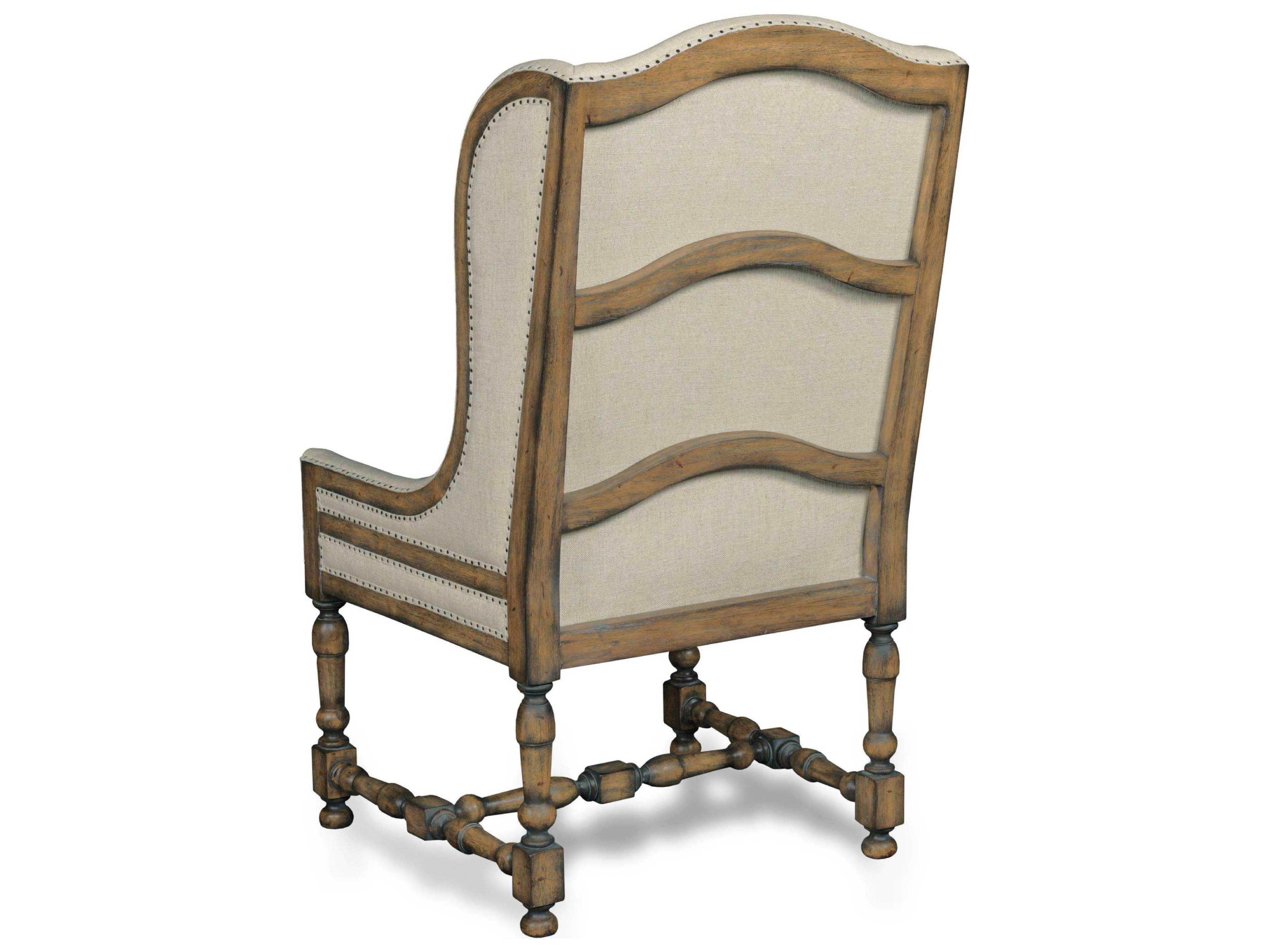 Hooker furniture davalle chateau linen dark wood dining
