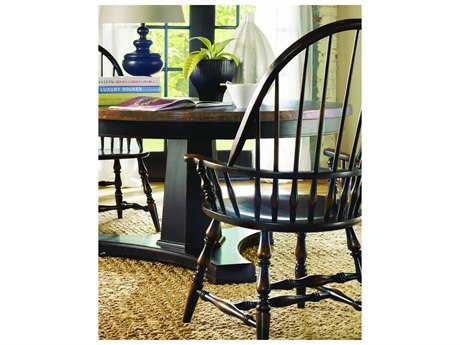 Hooker Furniture Sanctuary Windsor Ebony Dining Arm Chair