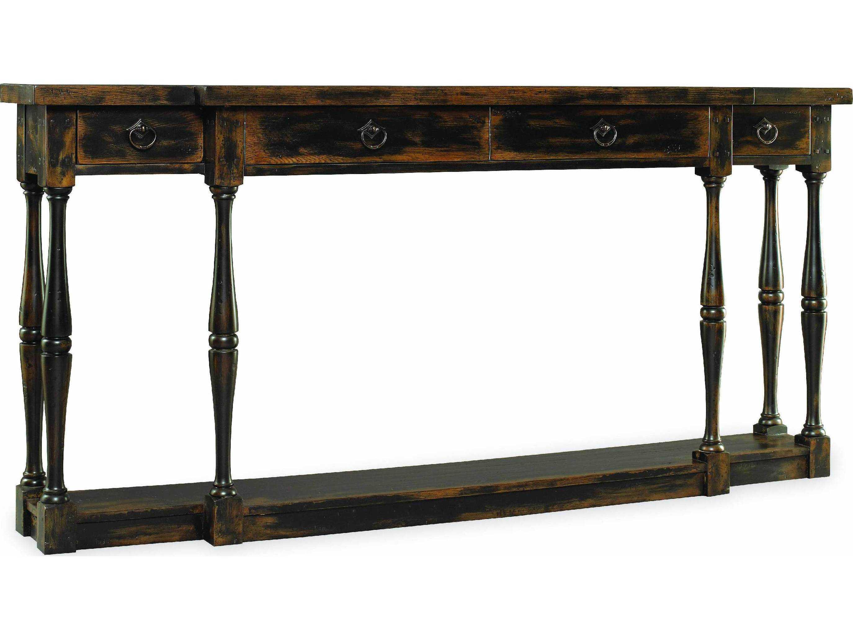 Hooker furniture sanctuary ebony 72 39 39 l x 12 39 39 w rectangular for Sofa table 72
