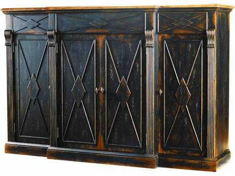 Hooker Furniture Sanctuary Ebony & Drift 77''L x 21''W Rectangular Credenza Buffet