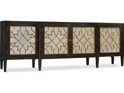 Hooker Furniture Sanctuary Ebony with Mirrored 105''L x 20''W Rectangular Buffet