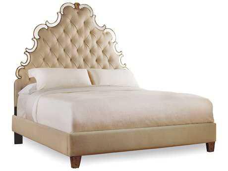 Hooker Furniture Sanctuary Bling King Size Tufted Platform Bed