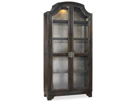 Hooker Furniture Sanctuary Sanctuary Glass Bunching Curio-Ebony Antiqued Oak