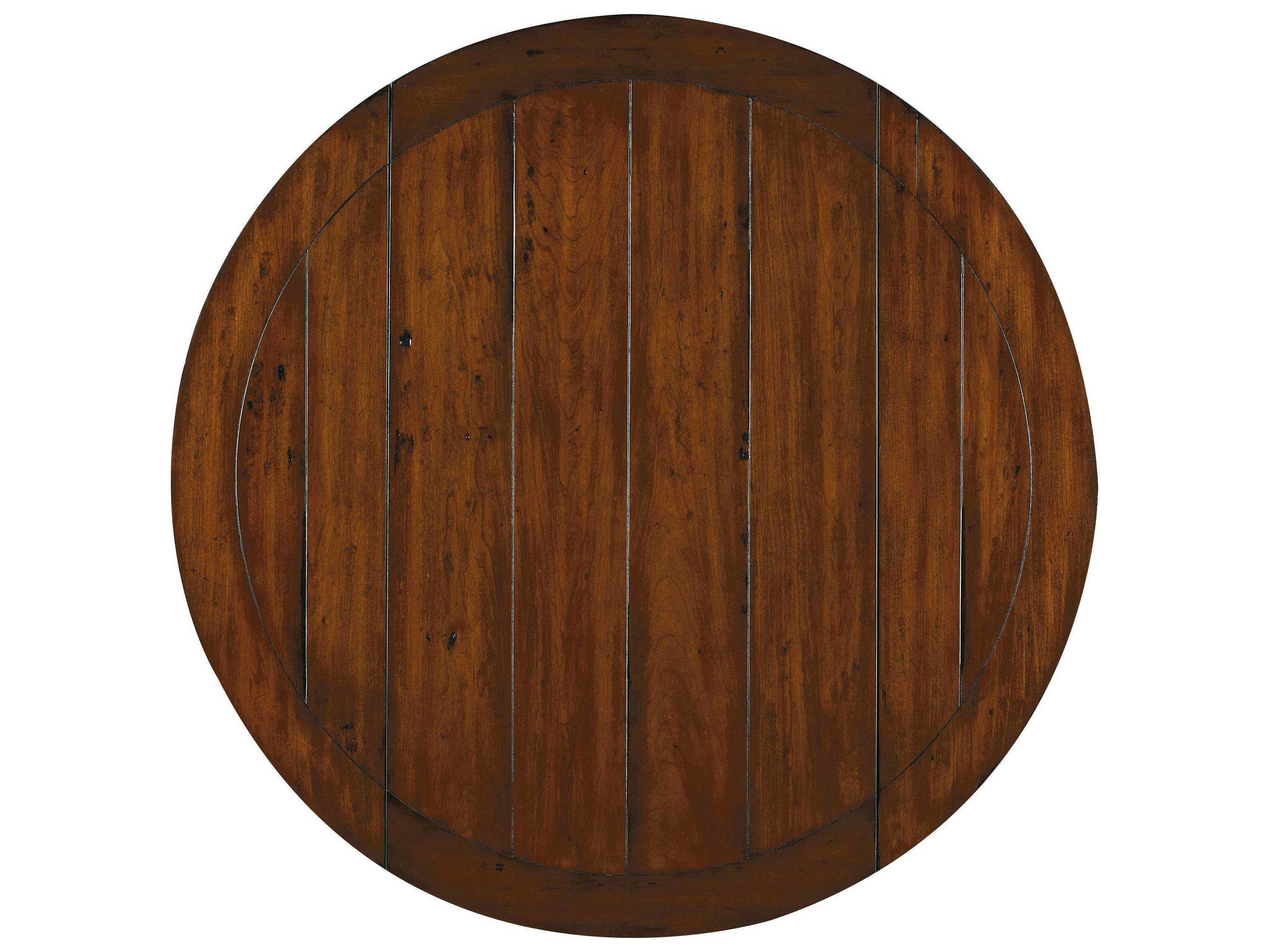 ... Hooker Furniture Waverly Place Distressed Antique Cherry 44u0027u0027 Wide Round  Drop Leaf Pedestal Dining