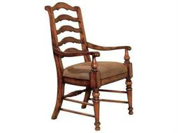 Hooker Furniture Waverly Place Distressed Antique Cherry Sporty Ladderback Dining Arm Chair