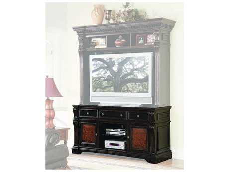 Hooker Furniture Telluride Black with Reddish Brown 71''L x 24.5''W Rectangular Entertainment Console