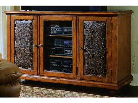 Hooker Furniture Distressed Wood 60''L x 23''W Rectangular Entertainment Console