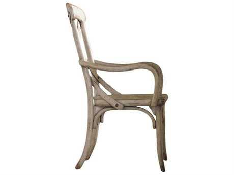 Hooker Furniture Wakefield X Back Taupe Dining Arm Chair