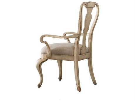 Hooker Furniture Wakefield White Splatback Taupe Dining Arm Chair