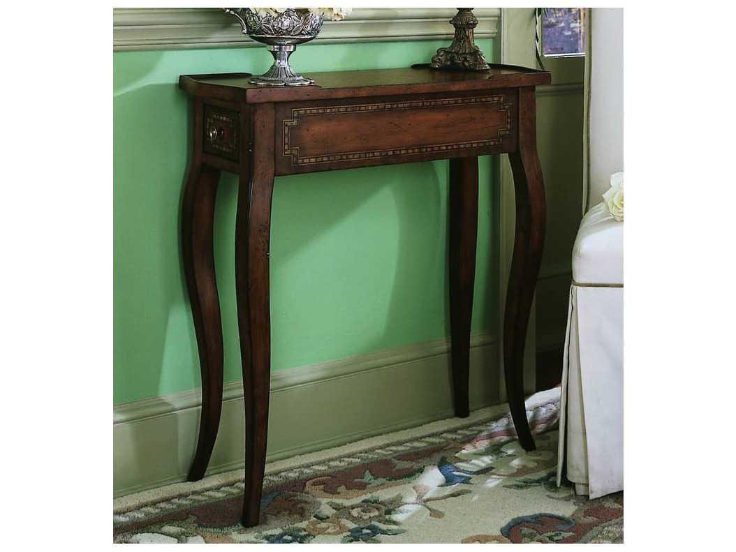 Make A Side Table Taller: Hooker Furniture Dark Wood 28''L X 11''W Rectangular