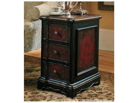 Hooker Furniture Black & Red 14''L x 18.75''W Rectangular Accent End Table