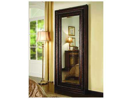 Hooker Furniture Mahogany 38''W x 76''H Rectangular Floor Mirror with Hidden Jewelry Storage