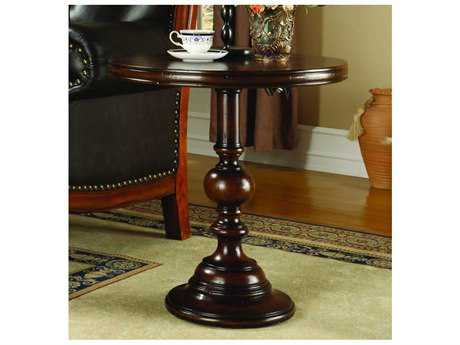 Hooker Furniture Cherry & Walnut 24'' Wide Round Pedestal Table