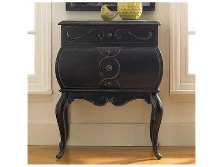 Hooker Furniture Black 25''W x 17''D Bombe Accent Chest