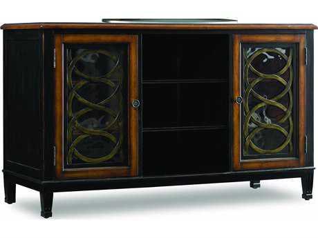 Hooker Furniture Black 60''L x 23''W Rectangular Entertainment Console