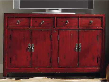 Hooker Furniture Red 58''L x 22''W Rectangular Entertainment Console