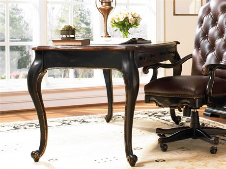 Hooker Furniture Grandover Black with Gold Accents 60''L x 30''W Rectangular Writing Desk