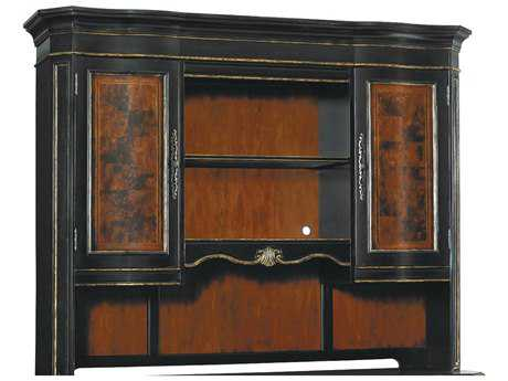 Hooker Furniture Grandover Black with Gold Accent Computer Credenza hutch