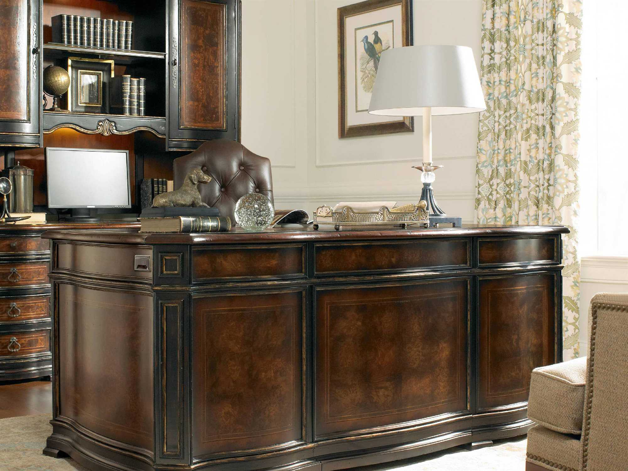executive best bookcase furniture with hooker home adagio desk office transcend