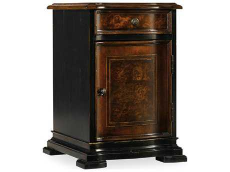 Hooker Furniture Grandover Black with Gold 16.75''L x 18.75''W Rectangular Chairside End Table