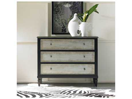 Hooker Furniture Black with Two-Tone Aluminum Wrap 42''W x 18''D Accent Chest