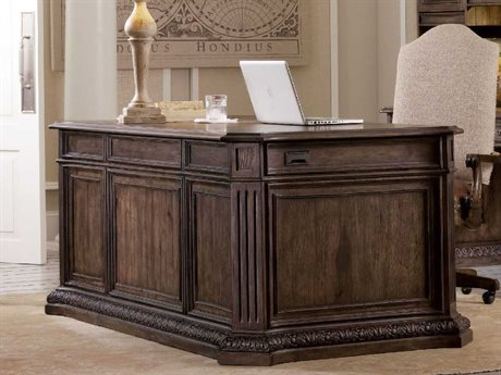 Hooker Furniture Rhapsody Rustic Walnut 75''L x 25''W Rectangular Executive Desk