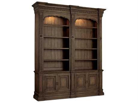 Hooker Furniture Rhapsody Medium Wood Double Bookcase