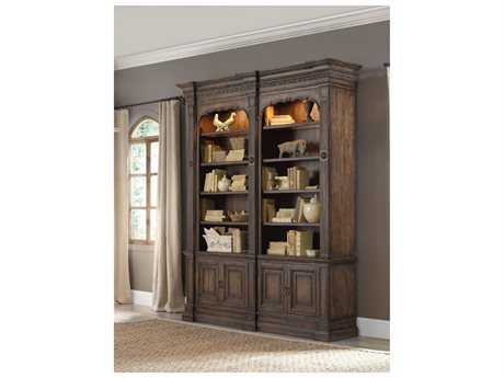 Hooker Furniture Rhapsody Medium Wood Double Bookcase