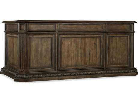 Hooker Furniture Rhapsody Rustic Walnut 74''L x 40''W Rectangular Executive Desk