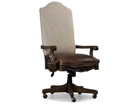 Hooker Furniture Rhapsody Rustic Walnut Computer Tilt Executive Swivel Chair