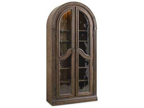 Hooker Furniture Rhapsody Rustic Walnut Bunching Curio