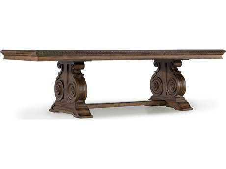 Hooker Furniture Rhapsody Rustic Walnut 88''L x 46''W Rectangular Dining Table