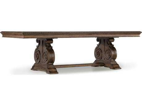 Hooker Furniture Rhapsody Rustic Walnut 88''L x 46''W Rectangular Dining Table