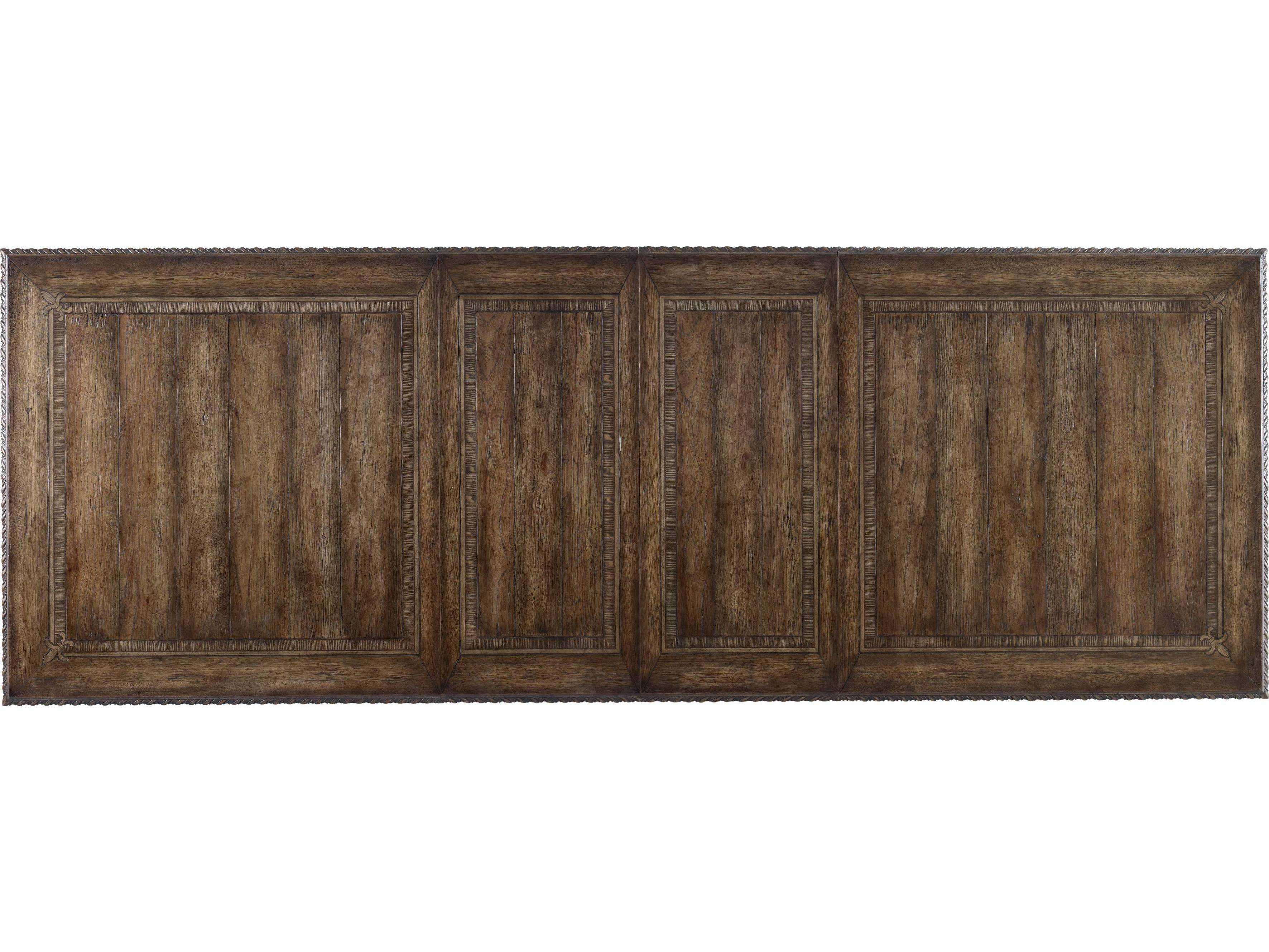 ... Hooker Furniture Rhapsody Rustic Walnut 88u0027u0027L X 46u0027u0027W Rectangular ...