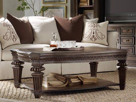 Hooker Furniture Rhapsody Walnut 56''L x 40''W Rectangular Cocktail Table