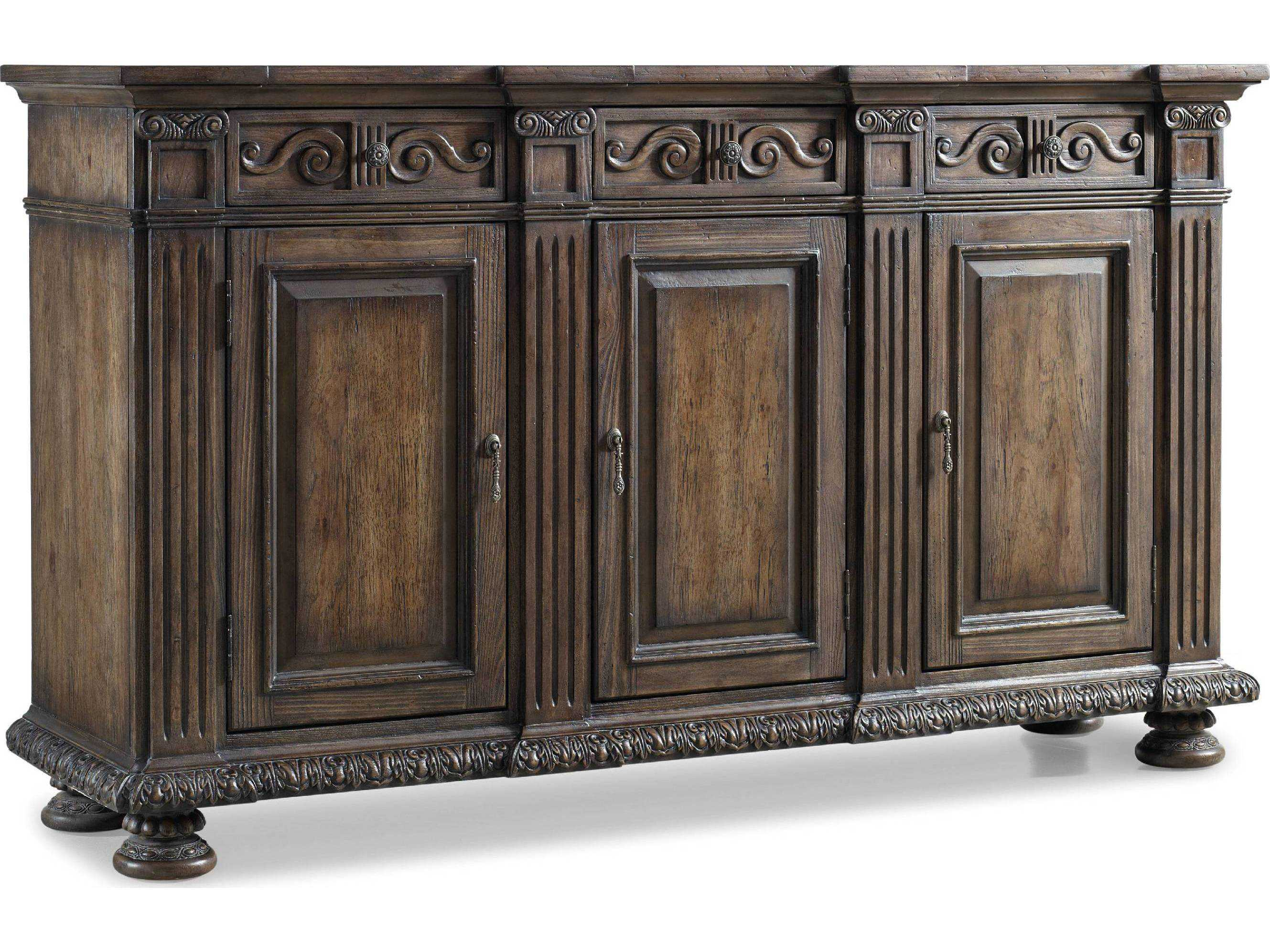 Hooker Furniture Rhapsody Rustic Walnut 72 L X 20 W